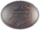 USA Ski Team belt buckle with rope border