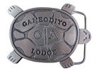 Turtle shaped belt buckle