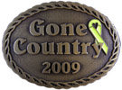 Country Western Award belt buckle with rope border