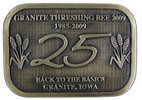 Commemorative  Threshing Bee Western belt buckle with sheaves of grain