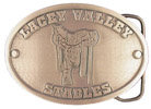 Western Ranch belt buckle with saddle