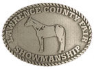 Western County Fair belt buckle with horse in middle of buckle