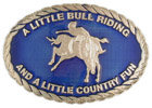 Western Rodeo belt buckle with bucking bronco