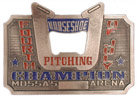 Western Commemorative Horseshoe belt buckle with Bottle Opener